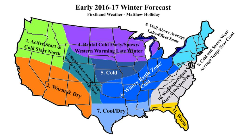 Another Wintry Forecast For The 2016 2017 Winter Season