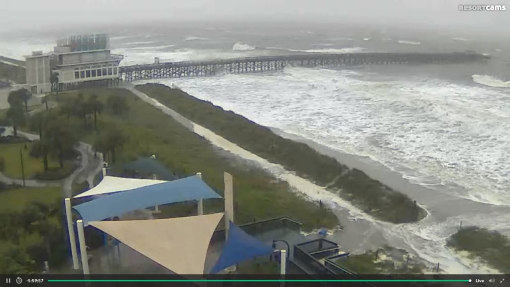 hurricane matthew webcams