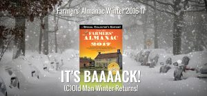 Click to Enlarge a look at Farmers' Almanac website header.