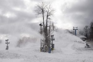 Snowmaking at Winterplace Resort in WV. Click photo to ENLARGE!